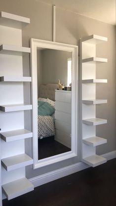 Cute Bedroom Decor, Bedroom Decor For Teen Girls, Room Design Bedroom, Teen Room Decor, Stylish Bedroom, Small Room Bedroom, Room Ideas Bedroom, Mirror For Bedroom, Ikea Teen Bedroom