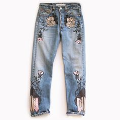 Bliss and Mischief - Shadows of Mountains Embroidered Denim