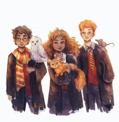 Harry, Hermione and Ron