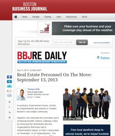 Real Estate Personnel On The Move: September 13, 2013