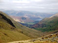 The view from Threshthwaite Mouth at the end of the valley