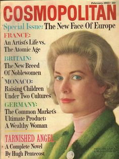 Cosmopolitan magazine, FEBRUARY 1963 Princess Grace Kelly on cover