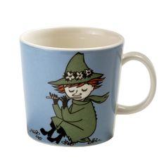 Snufkin Moomin mug from Arabia by Tove Jansson, Tove Slotte