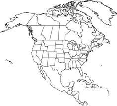 North America Coloring Page For Kids And Adults From Education Pages Maps
