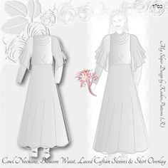 Tznius Wedding Gown Caftan Sleeves Cowl Neckline