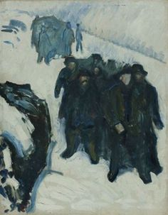 Edvard Munch. Marins dans la neige - 1910-1912 - Huile sur toile ✏✏✏✏✏✏✏✏✏✏✏✏✏✏✏✏ IDEE CADEAU ☞ http://gabyfeeriefr.tumblr.com/archive ..................................................... CUTE GIFT IDEA ☞ http://frenchvintagejewelryen.tumblr.com/archive ✏✏✏✏✏✏✏✏✏✏✏✏✏✏✏✏