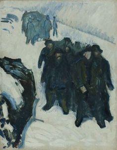 Edvard Munch. Marins dans la neige - 1910-1912 - Huile sur toile