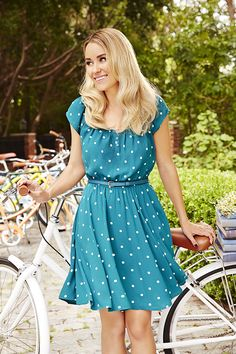 The latest LC Lauren Conrad collection is here! How sweet is this Print Pleated Dress?