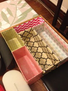 Drawer Dividers- reusing boxes
