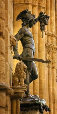 Details, details...Perseus with the Head of Medusa, Piazza della Signoria in Florence , Italy, photo by Christopher Gruver.