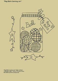 Primitive Stitchery EPattern Rag Ball par JoAnnCountryCorner, $2.00