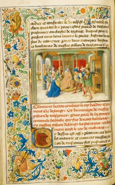 Getty Museum, Los Angeles - De pelgrimage van Ridder Gillion de Trazegnies naar het Heilige Land - Handschrift in opdracht van Lodewijk van Gruuthuse, verlucht door Lieven van Lathem, 1464
