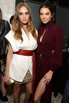 Model mates: The professional clothes horses Cara and Kendall put on fashionable displays in their glam outfits