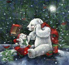 Surprise! by Janet Stever ~ polar bears ~ gift ~ Christmas