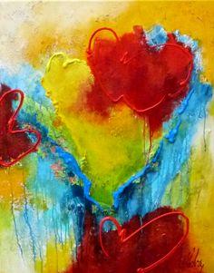 Adry's schilderij nr. 2081 met als titel: Het groene hart in het formaat 80 x 100 cm.