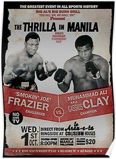 The Greatest Event In All Sport Frazier Vs Muhammad Ali Fridge Magnet Muhammad Ali, Kickboxing, Sports Illustrated, Muay Thai, Jiu Jitsu, Boxe Mma, Boxe Fitness, Boxe Fight, Thrilla In Manila