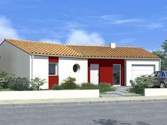 Plan de maison en Y par Alliance Construction, à construire en Vendée par exemple puisqu'elle a une toiture en tuile. Pour voir ce modèle de maison en ardoise visitez notre site : www.allianceconstruction.fr