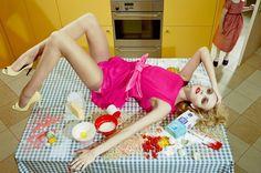 Home Works | Caroline Trentini by Miles Aldridge for Vogue Italia March 2008