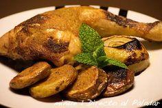 Pollo a la mostaza. Receta paso a paso con fotos de los ingredientes y de la elaboración. Trucos y consejos de elaboración. Recetas de...