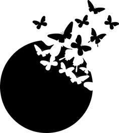Paper quilling idea for kids Bird Silhouette Art, Silhouette Cameo Projects, Silhouette Design, Silhouette Portrait, Stencil Patterns, Stencil Art, Stencil Designs, Notan Art, Art Papillon