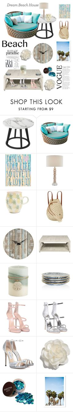 """•~ Beach Dream House ~•"" by xxruby148xx ❤ liked on Polyvore featuring interior, interiors, interior design, home, home decor, interior decorating, Skyline, Shiraleah, Billabong and Sterling"