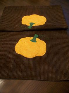 Fall Table Runner Applique Harvest Autumn  54 by SilviaEmbroidery, $23.00