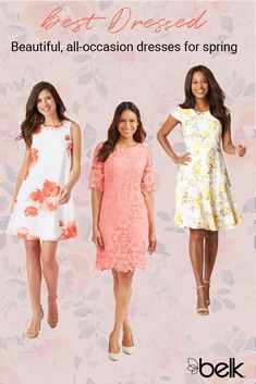 78b5a291e9 Spring is here and your social calendar is already full – make sure your  dress collection