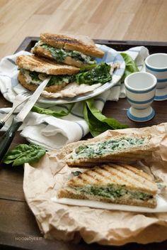 Sandwich al pollo con spinaci 2