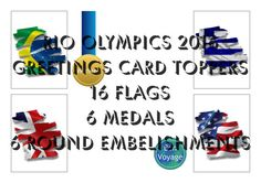 Olympic games Rio 2016 Greetings card toppers by BokniArt on Etsy