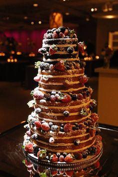 Naked Wedding Cake.  @danmeiners #ryestudio #kcweddings #kcpwg #theknot #kansascity #munaluchibride #munaluchi #blackbride1998 #bellanaijaweddings #weddingwire #blkbridalbliss #idoghana #bridetobride #weddingchicks #caratsandcake #idoweddingsng #falloncarterweddings