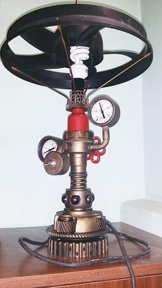 настольная лампа стимпанк