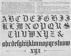 Lessons In Old English Calligraphy