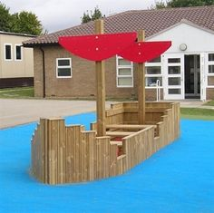 Playground Longboats - long and tall playboats and adventure play area equipment for school playgrounds. Built to the highest standards using high-quality timber.