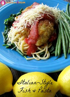 Italian-Style Fish & Pasta on Spinach and I'll show you which ingredients I bought at Sam's Club to make it #SamsDemos #cbias #shop http://freebies4mom.com/fishpasta/