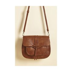 Give Them Something to Toggle 'Bout Bag (€36) ❤ liked on Polyvore featuring bags, handbags, shoulder bags, accessories, cross-body bag, messenger, varies, vegan purses, purse shoulder bag and brown crossbody
