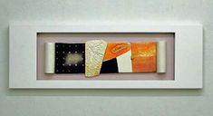 The ceramic recreations of Munemi Yorigami Ceramic Sculpture, Wall Sculptures, Ceramics, Abstract, Orange Color, Patrick Heron, Slab Ceramics