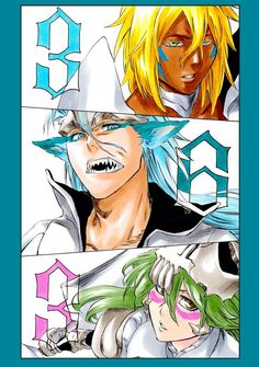 CFYOW Fanart: Grimmjow, Harribel, Nelliel by : bleach Bleach Manga, Bleach Anime Art, Bleach Fanart, Manga Art, Manga Anime, Bleach Tattoo, Bleach Pictures, Bleach Characters, Anime Tattoos