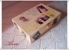 Caja con decoupage  y fotos