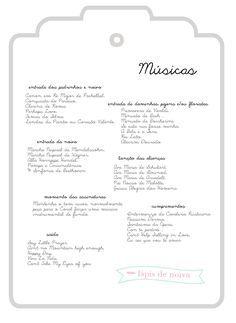 músicas para cerimônia de casamento   Lápis de Noiva