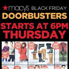 View the Macy's Black Friday 2015 Ad with Macy's deals and sales