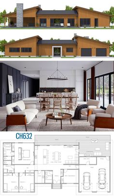 House Plan House Plan, Home Plan, House Designs Image Size: 898 x 1564 Source Family House Plans, Dream House Plans, Modern House Plans, House Floor Plans, Bungalow Floor Plans, Ranch House Plans, Dream Home Design, Home Design Plans, New Home Plans