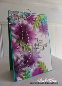 Seeing Ink Spots: It's About Time!: Flower Patch & Work of Art stamp sets: Painting with stamps technique:
