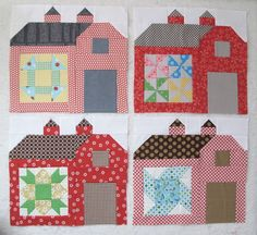 Bee In My Bonnet: The Back of my Farmers Wife Quilt!!!...  More barn ideas.