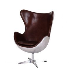 Large Spitfire Vintage Aviator Egg chair distressed leather metal backed design, our best selling aviation armchair at our aviation furniture company online U. Wooden Dining Room Chairs, Wayfair Living Room Chairs, Metal Chairs, Ashley Furniture Chairs, Outdoor Furniture Chairs, Ikea Chairs, Desk Chairs, Leather Chaise Lounge Chair, Outdoor Lounge Chair Cushions