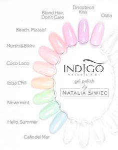Say hello to summer! Pastel colors are back! Collection by Natalia Siwiec #nails #nail #pastel #summer #spring #trend #new #wow #indigo #hot #sexy