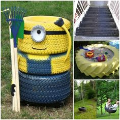 Instead of adding more garbage to our environment by throwing away old tires, why not take inspiration from these projects and transform old tires into amazing creations: http://theownerbuildernetwork.co/urbj