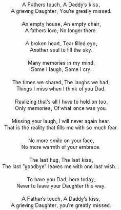 i miss you daddy poems. i miss you dad poems Rip Daddy, Miss My Daddy, Miss You Papa, Love You Dad, Just For You, Grieving Daughter, Daddy Poems, Missing Quotes, Rip Dad Quotes