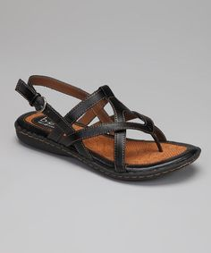 Take a look at this Black Cait Sandal by b.o.c by Born on #zulily today!