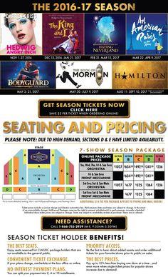 2016 - 2017 Season Packages | Hollywood Pantages Season Ticket, Neverland, Hollywood, Packaging, Seasons, Paris, Books, Broadway, Fun