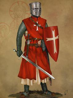Knight Hospitaller of Saint John by JLazarusEB Medieval Knight, Medieval Armor, Medieval Fantasy, Knights Hospitaller, Knights Templar, Knight Orders, Crusader Knight, Knight Art, Arm Armor
